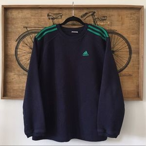 Oversized Adidas Fleece Sweatshirt